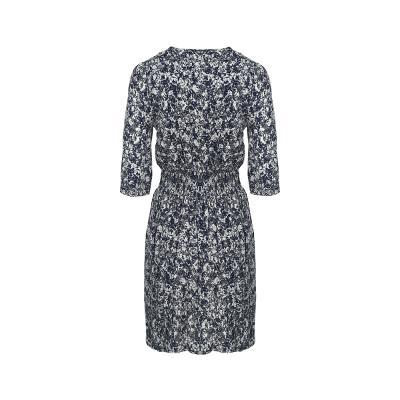 floral pattern pleats detail dress